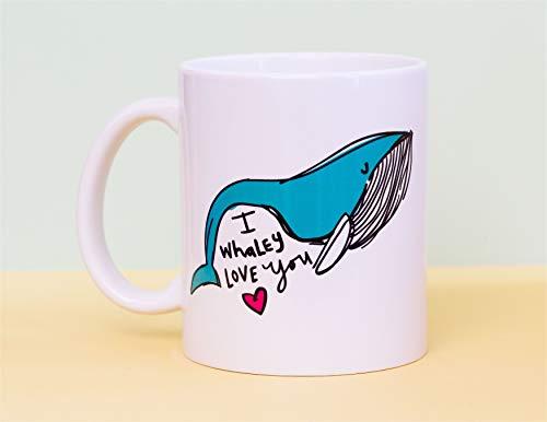 I whaley love you mug whale gift coffee mug gift for girlfriend wife gift for boyfriend husband love gift pun coffee mug whale mug ()