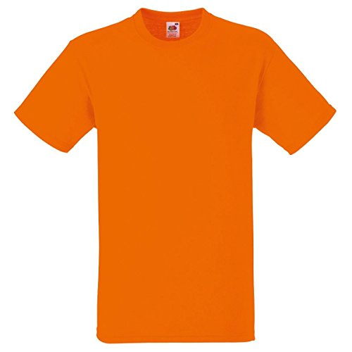 Fruit of the Loom Herren T-Shirt 5 er PackRegular Fit 11182V L,Orange - Orange