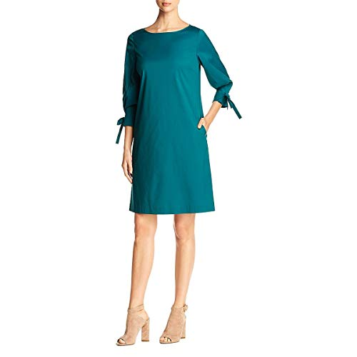 Lafayette 148 New York Womens Paige Knee-Length Party Cocktail Dress Green S