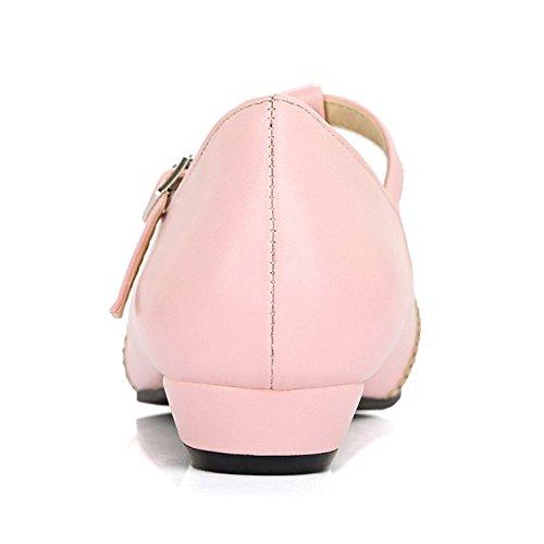 Tacco TAOFFEN Chiusa Moda con Scarpe Pink Donna Punta CtPqwTPO