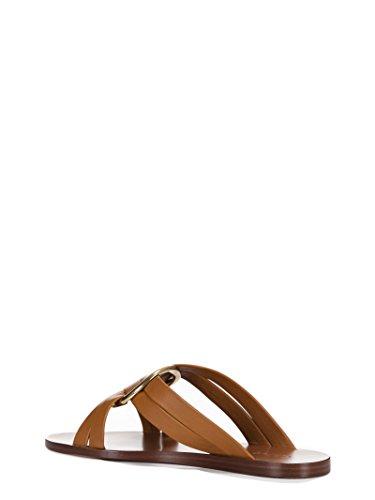 Chloé Women's CHC18U02891244 Brown Leather Sandals free shipping store vCuQRHbJ4