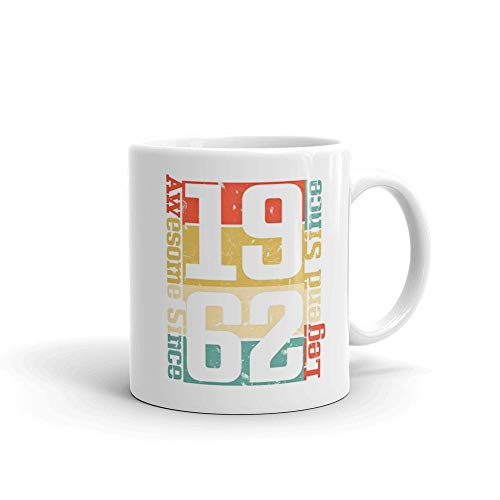 56th Birthday, Awesome Since 1962 Funny Gift Idea Edit Happy Thanksgiving 11oz White Ceramic