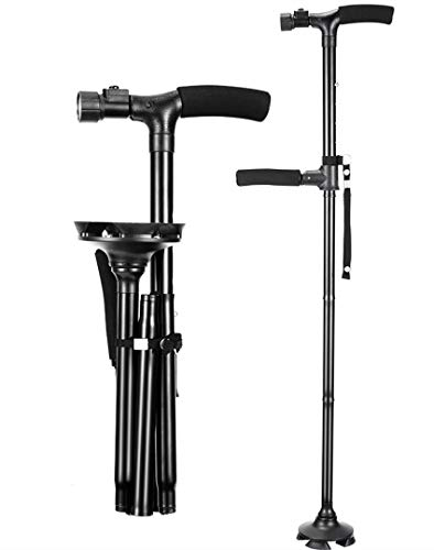 Folding Walking Cane with LED Light with Carrying Bag by Mudo nest, Ad