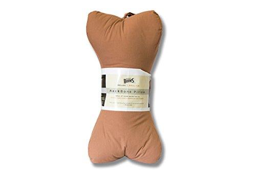 Original Bones NeckBone Pillows in Poly Cotton, Brown