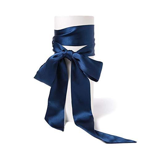 Orose Silk Skinny Headband & Hair Bandana for Women and Girls   Head Scarf/Scarves for Hair, Neck Scarf Navy, 2