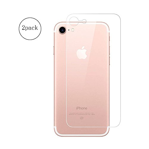 chic (2 pack) iPhone 7 Back Screen Protector, Soft Nano Anti-Shock Full Coverage Anti-fingerprint Bubble-Free Ultra Thin Back Protector Rear Film for iphone 7 ( clear)