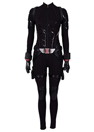 Womens Black Halloween Costume Widow Cosplay Deluxe Full Set Outfits XS -