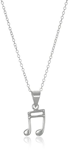 Sterling Silver Music Pendant Necklace