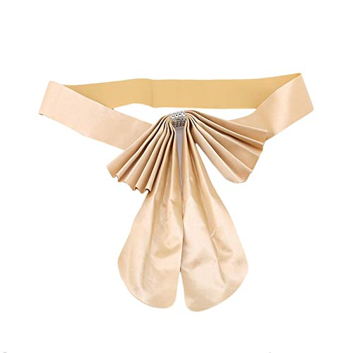 Suit Thong - 20pcs Pack Adjustable Bow Tie Ribbon Bands Chair Sashes Home Decorative Accessory Banquet Seat - Balloon Cooler Wedding Flower Charm Chinese Glitter Fish Sash Suit Thong Belt Back