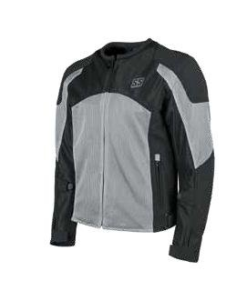 Speed and Strength Midnight Express Mesh Men's Street Motorcycle Jacket - Silver/Black / X-Large - Mens Mesh Street Motorcycle Jackets