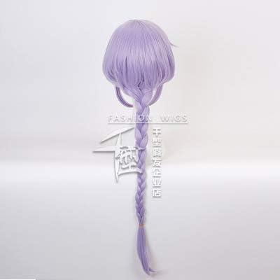 JuegosCosplay wig Genshin Impact Project QIQI Purple Long Hair Anime Comic-Con Christmas Carnival Halloween Party Vida cotidiana Hombres y mujeres Fashion Wig