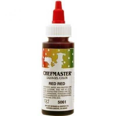 Amazon.com: Chefmaster Liqua-Gel Food Color 2.3 oz. - Red Red ...