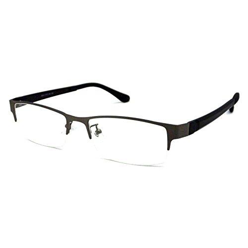 Half Rim (VINTAGE Designer Metal Frame Half Rim Clear Lens Eye Glasses)
