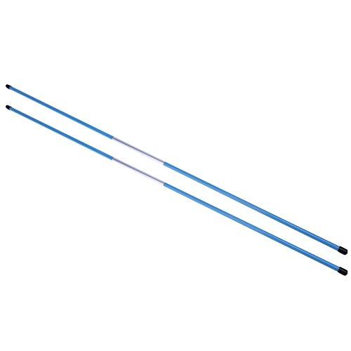 sikiwind 2pcs Golf Alignment Sticks Swing Tour Trainer Rod Ball Striking Aid -