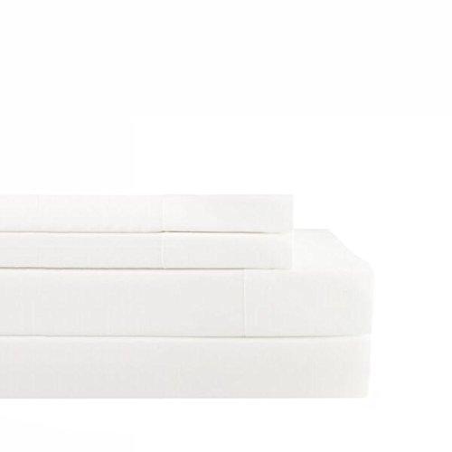 Melange Home 191529 Sheet Set, Queen Sized, Gardenia IV (White Queen Bed Matte Complete)