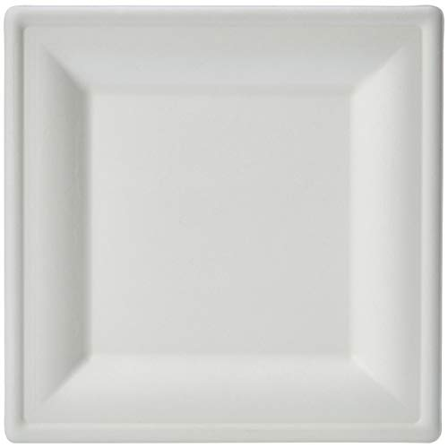 AmazonBasics Compostable Square Plate, 6-Inches, - Plate Square Medium