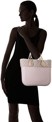 O bag B002_075, Borsa a Mano Donna, Multicolore (Rosa Smoke), 11x31x40 cm (W x H x L)