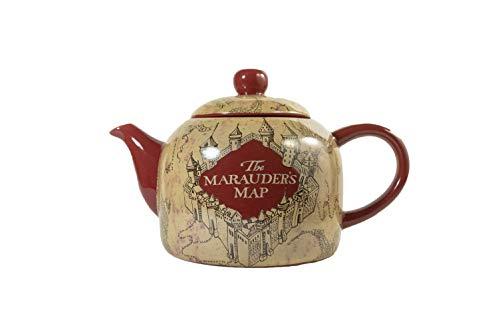 seven20 HP04863 Harry Potter Marauder's Map Ceramic Teapot, Standard Size, ()