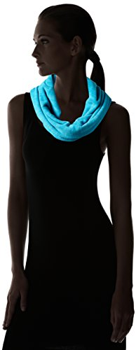 Turtle Fur Women's Heavyweight Polartec Thermal Pro Stria Fleece Cowl Neck Warmer, Wave, One Size