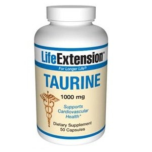 Life Extension Taurine 1000 Mg Capsules, 50 Count