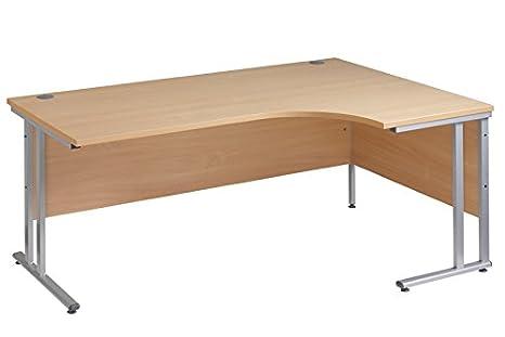 Ergonomia Scrivania Ufficio : Scrivania ergonomica con rientranza ad angolo sul lato destro in