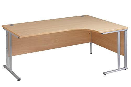 Ergonomic 1800mm Right Hand Oak Corner Office Desk Computer Table DAMS