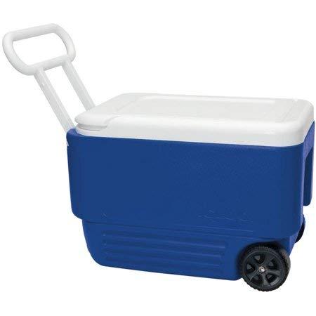 Blue Igloo (Igloo 38-Quart Wheelie Cool Cooler Blue)