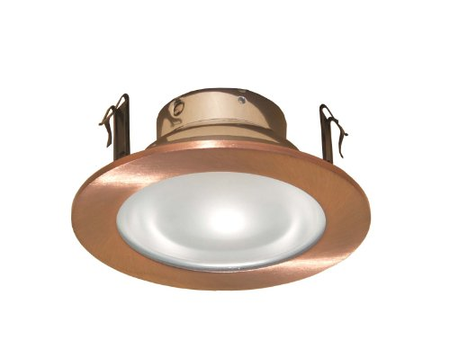 Shower Voltage Low (4 Inches Frosted Lens Shower Trim for Low Voltage Recessed Light-(Copper)- Fit Halo/Juno)