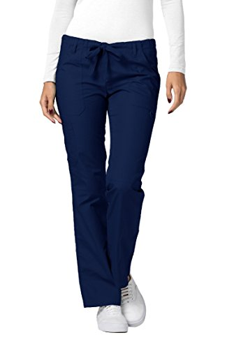 Drawstring Straight Leg Pant - Adar Universal Low-Rise Multipocket Drawstring Straight Leg Pants Tall - 510T - Navy - XS