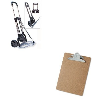 KITSTB390009CHRUNV40304 - Value Kit - Stebco Portable Slide-Flat Cart (STB390009CHR) and Universal 40304 Letter Size Clipboards (UNV40304) by Stebco