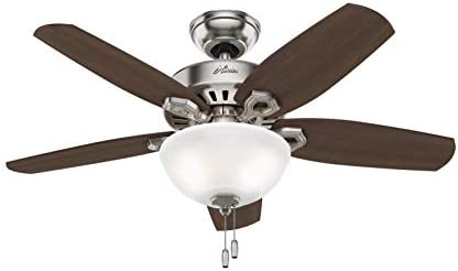 Hunter Builder Indoor Ceiling Fan with LED Light and Pull Chain Control, 42 , See Image