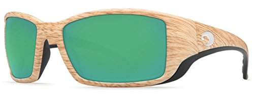 Costa Del Mar Blackfin Polarized Sunglasses Ashwood/Green Mirror 580Plastic