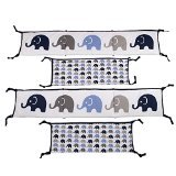 Best Bacati Baby Cribs - Bacati Elephants Blue/Grey Bumper Pad Review