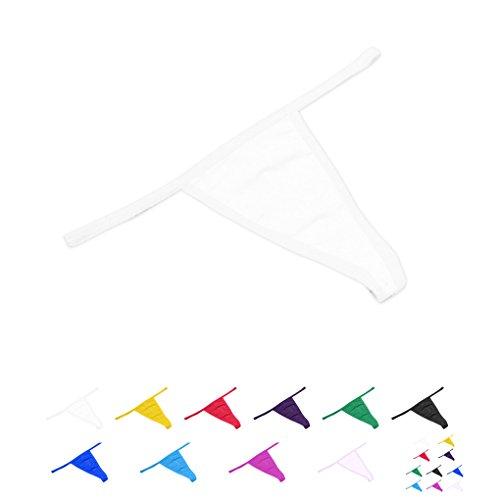 1 / 6pcs Mujeres Bajo Cintura De Color S¨®lido G-String Tongs Sin Costura Underwear Bragas Briefs blanco