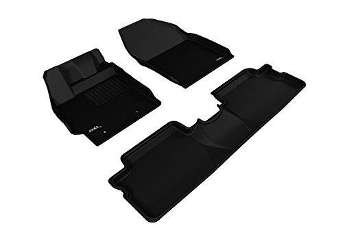 3D MAXpider All 2 Row Custom Fit Floor Mat for Select Scion XB Models - Kagu Rubber (Black)
