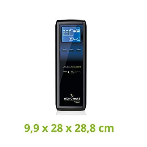 Tecnoware UPS EXA Plus 1500 Sistemas de alimentación ininterrumpida para Game PC y Consola - Alta Silenciosidad - 8… 2