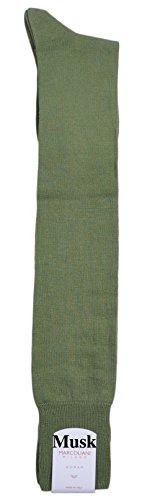 Marcoliani Milano Mens Over The Calf Herringbone Pima Cotton Dress Socks