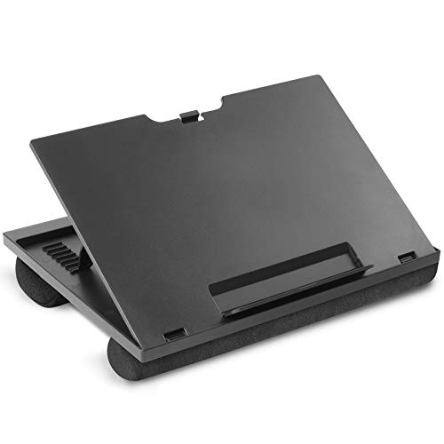 Adjustable Lap Desk - with 8 Adjustable Angles & Dual Cushions Laptop Stand for Car Laptop Desk, Work Table, Lap Writing Board & Drawing Desk on Sofa or Bed by HUANUO