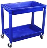 Astro Pneumatic Ao8330 Plastic 2 Shelf Cart 300Lb Cap HD Pvc Utility