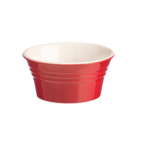 Mason Cash Stoneware Ramekin, 3-3/4-Inches, 6-Fluid Ounces, Classic Red (Dessert Bowl Red)