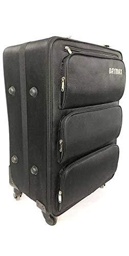 SPRINGYOU 大容量ローリング荷物スピナー多機能ユニークなデザイン 3 層スペーストロリースーツケースホイールバッグ 24\ ブラック B07QSF5YPD