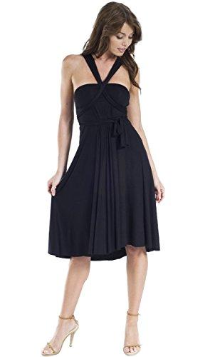 Little Black Convertible Dress (Vivian's Fashions Dress/Skirt - Twist Wrap, 10 Ways to Wear (Black, Large))