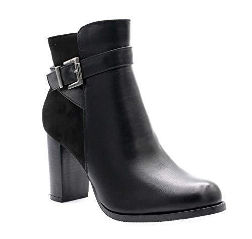 Fashion Shoes Negro Mujer Botas Sintético De vgwrqx86v