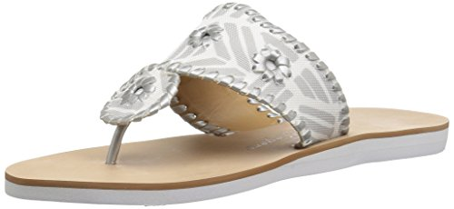 Jack Rogers Women's Captiva Flat Sandal Multi geo/Silver for sale  Delivered anywhere in USA