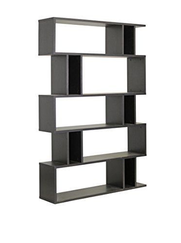 Baxton Studio FP-5DS-Shelf (3A) Goodwin 5-Level Modern Bookshelf, Dark - Interior Level