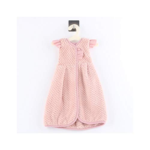 SunnyWarm Microfiber Soft Baby Child Cute Mini Dress Pink Handkerchief Kitchen Towels Multifunctional Hanging Hand Towel,Pink,See Below for Size Descriptions ()