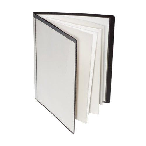 GBC Custom Cover and Spine Presentation Book, 24 Pockets, Black (A7041241A)