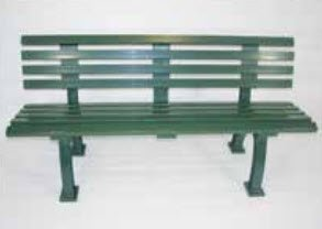Tennis Court Seating - Har Tru Courtsider Court Bench, GREEN