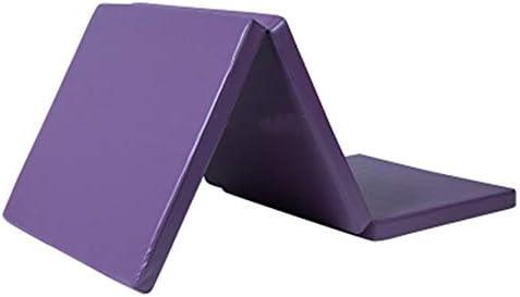 3層折り畳み式ヨガクッション折りたたみジムエクササイズマットカバーライナーフィットネスジャンプクッションパッド体操