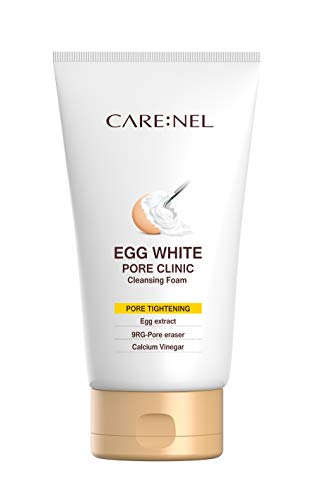 Egg White Pore Clinic - Facial Cleansing Foam 150ml(5.07fl.oz) - Purifying Foaming Cleanser for Daily Face Washing - Moisturizer & Brightening for All Skin Types - Supply natural food to -